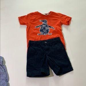 Boys Penguin Shirt Size 4